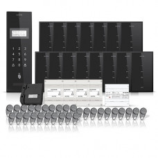 Set interfon pentru bloc Electra smart INT-ELEC-21, 15 familii, RFID, 30 tag-uri