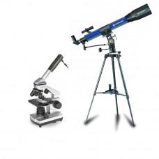 Set telescop 70/900 EL si microscop 40X-1024X Bresser