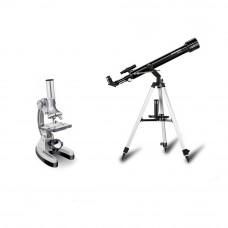 Set telescop Arcturus 60/700 si microscop Biotar 300x-1200x Bresser