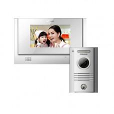 Kit videointerfon Commax CDV-72, 1 familie, 7 inch, aparent
