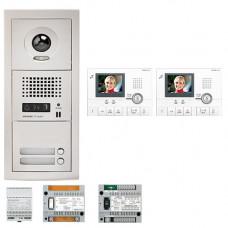 Set videointerfon Aiphone GTV2E, 2 familii, 3.5 inch, aparent