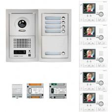 Set videointerfon Aiphone GTV5E, 5 familii, 3.5 inch, aparent