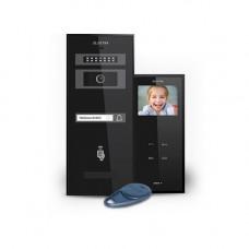Set videointerfon Electra Smart KIT.VPM.1S0.xxB(W), 1 familie, aparent, 3.5 inch