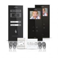 Set videointerfon Electra Smart VID-ELEC-10, 2 familii, 3.5 inch, aparent
