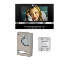Set videointerfon Genway FS7V13, 7 inch, aparent, 1 familie