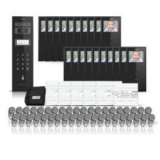 Set videointerfon pentru bloc Electra Smart VID-ELEC-28, 20 familii, aparent, 3.5 inch