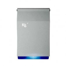 Sirena de exterior piezoelectrica cu flash Ksenia IMAGO BUS SILVER BLUE, KS-BUS, 100 dBA, IP43