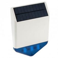 Sirena wireless de exterior cu incarcare solara KR-SJ1, 110 dB, 100 m, LED albastru
