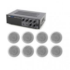 Sistem Audio 8 boxe tavan 100V Ambient 1-C