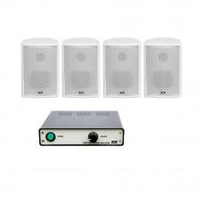 Sistem audio STUDIO-M Jazz 1 Basic, boxe perete, alb