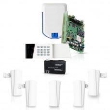 Sistem de alarma wireless Eldes, GSM/GPRS, 32 zone, 4 partitii, 5 detectoare