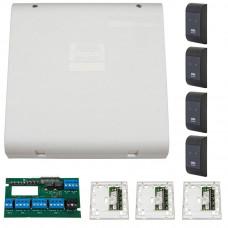 Sistem de control acces pentru 4 usi unidirectionale Assa Abloy RX WEB 9101IV-4U, 100000 carduri, 13.56 MHz