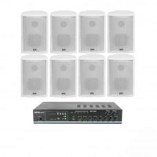 Sistem de sonorizare NOIZ JAZZ LINE 1, 8 boxe, 2 zone, alb