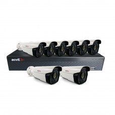 Sistem supraveghere exterior basic Acvil ACV-B8EXT40-5M, 8 camere, 5 MP, IR 40 m