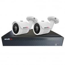 Sistem supraveghere exterior basic Acvil B2EXT30-2MP, 2 camere, 2 MP, IR 30 m