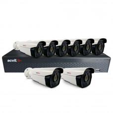 Sistem supraveghere exterior basic Acvil B8EXT60-2MP, 8 camere, 2 MP, IR 60 m