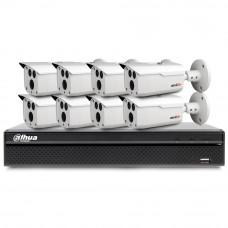 Sistem supraveghere exterior basic Acvil B8EXT80-2MP-V3, 8 camere, 2 MP, IR 80 m