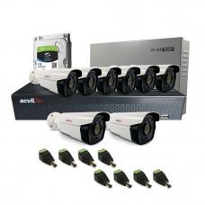 Sistem supraveghere exterior complet Acvil C8EXT60-5M, 8 camere, 5 MP, IR 60 m