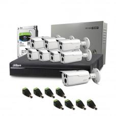Sistem supraveghere exterior complet Dahua DH-C8EXT80-4MP, 8 camere, 4 MP, IR 80 m