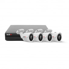Sistem supraveghere exterior NVR AHD Acvil IP-4EXT30-2M, 4 camere, 2 MP, IR 40 m