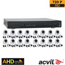 SISTEM SUPRAVEGHERE INTERIOR AHD CU 16 CAMERE VIDEO ACVIL AHD-16INT20-720P