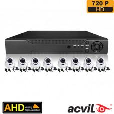 SISTEM SUPRAVEGHERE INTERIOR AHD CU 8 CAMERE VIDEO ACVIL AHD-8INT20-720P