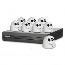 Sistem supraveghere interior basic Dahua DH-B8INT50-2MP-M, 8 camere, 2 MP, IR 50 m, microfon incorporat