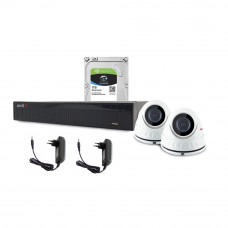 Sistem supraveghere interior complet Acvil C2INT20-5MP, 2 camere, 5 MP, IR 20 m