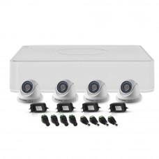 Sistem supraveghere interior Hikvision TurboHD TVI-4INT20-720P, 4 camere, 1 MP, IR 20 m