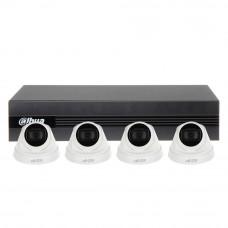 Sistem supraveghere IP interior basic Dahua EZ-IP DH-4EXT30-4MP-IP, 4 camere, 4 MP, IR 30 m, 40Mbps