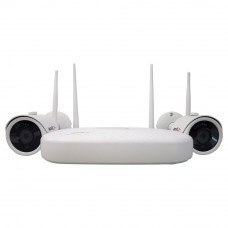 Sistem supraveghere IP exterior Acvil KIT 2 WIFI-2MP-30, 2 camere IP, 2 MP, IR 25 m
