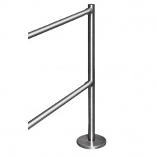 Stalp de capat pentru suport balustrade K-VO, inox, aparent
