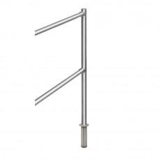Stalp intermediar de capat pentru suport balustrada K-KIVO, inox, ingropat