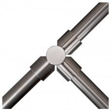 Stalp intermediar in forma de T pentru suport balustrada K-KITO, inox, ingropat