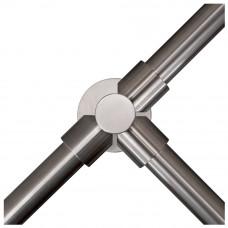 Stalp intermediar in forma de T pentru suport balustrade K-TO, inox, aparent
