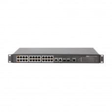 Switch cu 24+4 porturi Dahua PFS4226-24ET-360, 4000 MAC, 8.8 Gbps, PoE, cu management