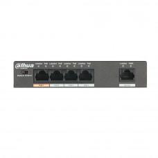Switch cu 4 porturi PoE Dahua PFS3005-4ET-60