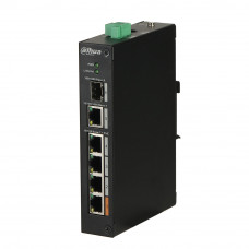 Switch cu 4 porturi PoE Dahua PFS3106-4ET-60