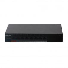 Switch cu 8 porturi PoE Dahua PFS3008-8ET-60