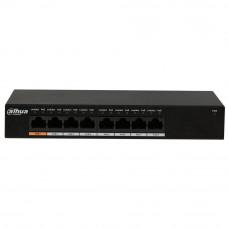 Switch cu 8 porturi PoE Dahua PFS3008-8GT-96