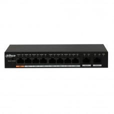Switch cu 8 porturi PoE Dahua PFS3010-8ET-96