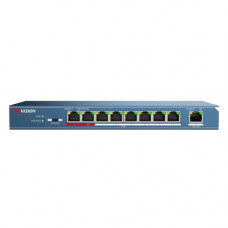 Switch cu 8 porturi PoE Hikvision DS-3E0109P-E, 4000 MAC, 100 Mbps, fara management