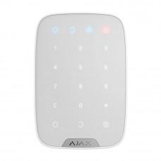 Tastatura cu touch wireless AJAX Keypad WH, 15 taste, silent alarm, 1700 m