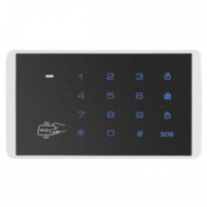 Tastatura wireless cu cititor pentru tag-uri RFID KR-K16, 433.92 MHz, 40 tag-uri, 100 m