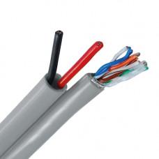 Cablu UTP cu alimentare UTP+2X0.8,  PRET / ROLA 305 M