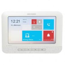 HIKVISION DS-KH6310-WL este un videointerfon de interior de la Hikvision. Are display touchscreen color de 7 inch cu 4 butoane fizice si o rezolutie de 800x480 pixeli. Acesta acceseaza si camerele IP Hikvision. Este accesibil prin aplicatia PC Hikvision i