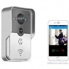 Videointerfon de exterior Wi-Fi WX-01, 1 MP, 1 familie, aparent